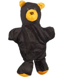 EDUEDGE Lets Do Drama Puppet Black Bear - Height 25.4 cm