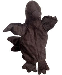 EDUEDGE Lets Do Drama Puppet Crow - Height 25.4 cm