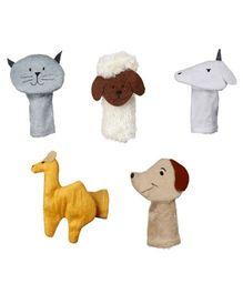 Eduedge Let's Do Drama Pet Animals Puppet 5 Piece Set - 11 cm