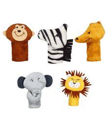 Eduedge Let's Do Drama Wild Animals Puppet Set 1 - 5 Piece Set - ELD63