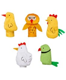 Eduedge Let's Do Drama Birds Puppet Set 1 - 5 Piece Set
