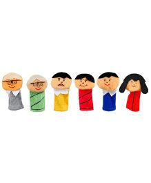 Eduedge Let's Do Drama Indian Family Puppet Set - 6 Pieces