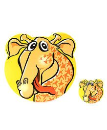 Table Mats Giraffe Print Yellow - Pack Of 8 Pieces