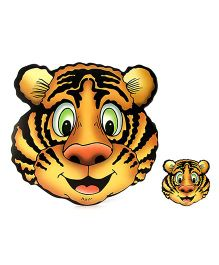 Table Mats Tiger Print Pack Of 8 Pieces - Yellow And Black