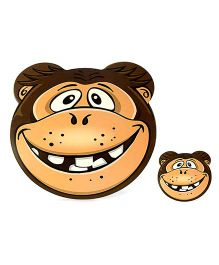Table Mats Monkey Print Pack Of 8 Pieces - Brown