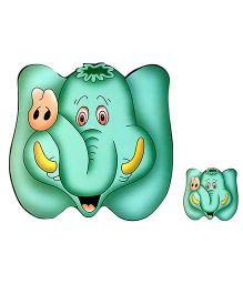 Table Mats Elephant Print Sea Green - Pack Of 8 Pieces