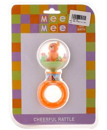 Mee Mee Cheerful Toy Rattle - Orange