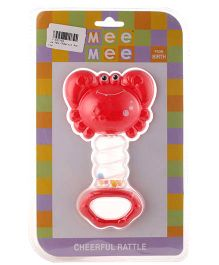 Mee Mee Cheerful Crab Rattle- Red