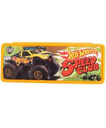 Hot Wheels Speed Club Pencil Box- Yellow