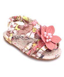 Ket Floral Theme Sandals - Pink