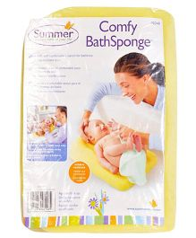 Summer Infant Comfy Bath Sponge - Yellow