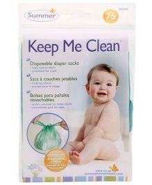Summer Infant Disposable Diaper Sacks Pack Of 75 Bags