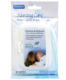 The First Years Nursing Care Disposable Breast Wipes - 30 Pieces