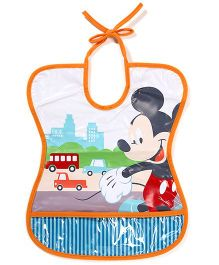 The First Years Tie Bib Mickey Mouse Print - Multicolour