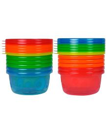 The First Years Take And Toss Bowls With Lids 8 Ounces - Assorted Colors