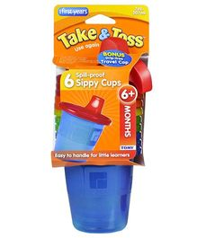 The First Years Take And Toss Spill-Proof Cups - Pack of 6