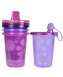 The First Years Take And Toss Spill-Proof Cups Pink - Pack of 4