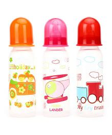 Mee Mee Premium Feeding Bottle Pack Of 3 Pink Red Orange - 250 ml