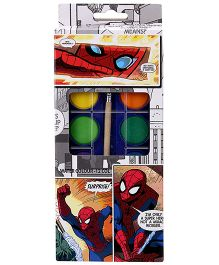 Spider Man Water Colours With Brush - Pack Of 12 Colours