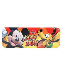 Disney Mickey Mouse And Friends Pencil Box - Red And Yellow