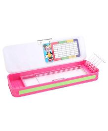 Minnie Mouse Double Sided Pencil Box - White And Pink