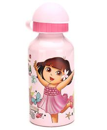 Dora Aluminium Sipper Bottle Pink - 350 ml