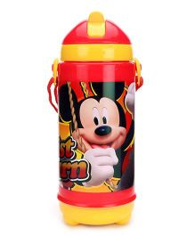 Disney Mickey Mouse And Friends Sipper Bottle Red And Yellow - 420 ml