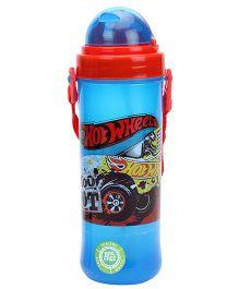Hotwheels Eco Sipper Water Bottle - Red & Blue