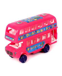 Lovely Double Decker Bus - Pink