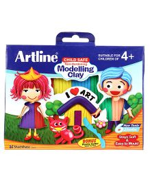 Artline Modelling Clay - 6 Colours