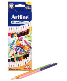 Artline Duo Tri Art Colour Pencils Pack of 10
