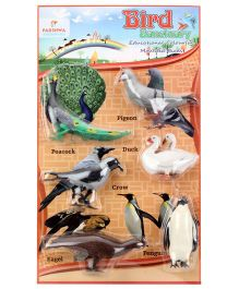 Parshwa Ent Bird Sanctuary Educational Molded Birds - Pack Of 6