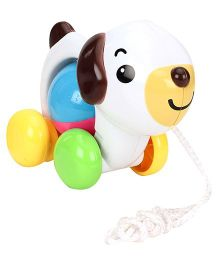 Sunny Pull Along Dog With Bell - Multi Colour