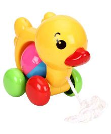 Sunny Pull Along Duck With Bell- Multi Colour