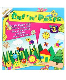 Ratnas Cut N Paste Art Craft Kit- Multi colour