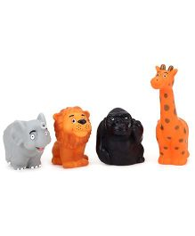 Speedage Animal Set Jr PVC Squeezy Toys Set of 4 (Color May Vary)