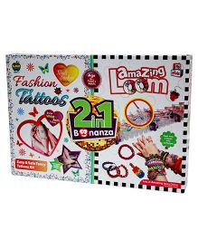 Apple Fun 2 In 1 Fashion Tattoos and Amazing Loom Bonanza Kit