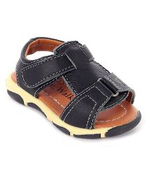 Cute Walk Casual Sandals With Velcro Strap - Black