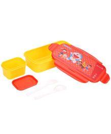 Doraemon Lunch Box Clip Locks - Red And Yellow