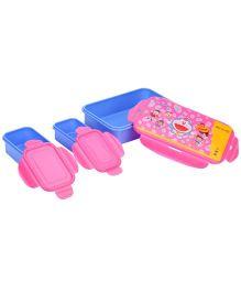 Doraemon Lunch Box Clip Locks - Pink And Blue