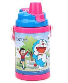 Doraemon Sipper Bottle Blue And Pink - 400 ml
