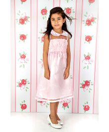 Cupcake Celebrations Embellished Party Wear Frock - Pink