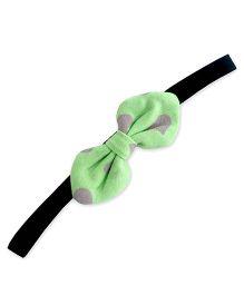 ATUN Heart Print Tribal Bow Headband - Green