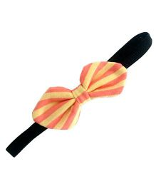 ATUN Stripe Print Tribal Bow Headband - Yellow And Orange