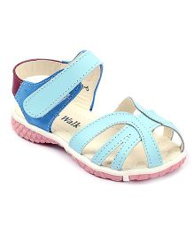 Cute Walk Sandals With Velcro Strap - Blue