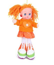 Tickles Doll With Light And Music Orange And White - Height 30 cm