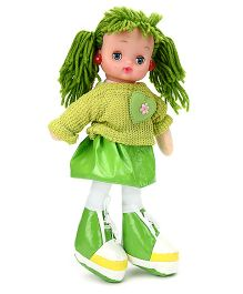 Tickles Doll With Light And Music Green - Height 34 cm