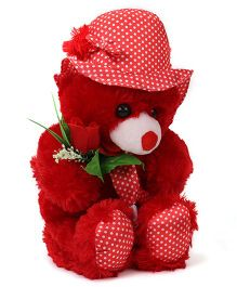 Tickles Teddy Bear With Rose Red - 33 cm