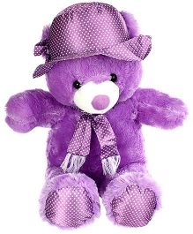 Tickles Cute Cap Teddy Purple - Height 19 Inch