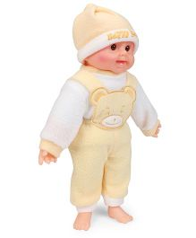 Tickles Laughing Baby Doll Yellow And White - Height 36 cm